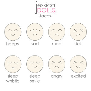 Face Expressions for Cutie Dolls™ | Jessica Dolls™