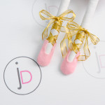 """""""Ballet Shoes Pink & Gold Lace""""   Jessica Dolls™"""