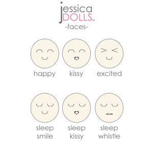 Facial Expressions for Cutie Dolls™ | Jessica Dolls™