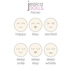 Facial Expressions for Cutie Dolls™   Jessica Dolls™