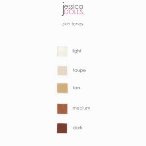 Skin Tone Options   Jessica Dolls™